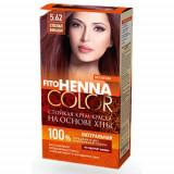 Vopsea de par permanenta fara amoniac FITO Henna Color 5.62 VISINA PUTREDA, Mov