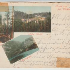 1899 CP ilustrata litho Hohe Rinne, Carpati, zona Hermannstadt, Sibiu, Paltinis