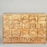 The Alphabet – dulap din lemn de mago
