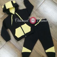 Trening bumbac bebelusi negru-galben