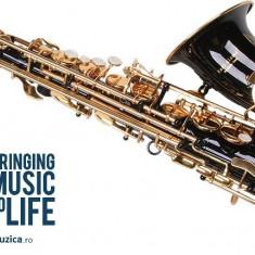 Saxofon ALTO Sax Karl Glaser curbat  NEGRU+AURIU NOU ALT Saxophone Germania