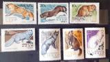 Rusia 1967 fauna animale, vulpi,  SERIE 7V. MNH,