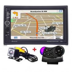 Navigatie 2Din mp5 player auto 7020G, Harti 2018 Full Europa, Rama adaptoare, Suporti, Camera