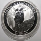 AUSTRALIA 1 DOLLAR 2014 KOOKABURRA . O UNCIE ARGINT 0.999 . PROOF .