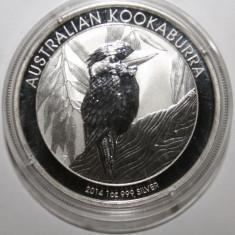 AUSTRALIA 1 DOLLAR 2014 KOOKABURRA . O UNCIE ARGINT 0.999 . PROOF ., Australia si Oceania