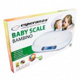 Cantar electronic bebelusi Esperanza EBS015, 20 kg, Display, Alb
