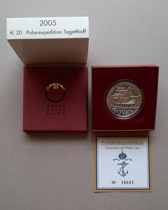 Moneda de argint - 20 Euro 2005 Austria - calitate Proof