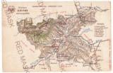 4546 - SEBES, Ludus, Aiud, Alba-Iulia, Abrud, ZLATNA MAP - old postcard - unused, Necirculata, Printata