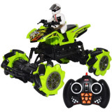 ATV cu telecomanda 2.4 GHz RC, pilot, rotiri 360 Rock Crawler suspensii independente Off-road 1:18