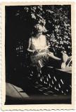 2 fotografii tanara la Varatec 1939 Neamt Moldova