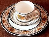 Cumpara ieftin Reducere! Portelan Hutschenreuther - Ceasca cafea si farfurii - floarea soarelui