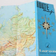 Harta turistica pliant - Reclama - Tarom RSR