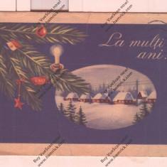CARTE POSTALA*FELICITARE*LA MULTI ANI 1957, Circulata, Printata