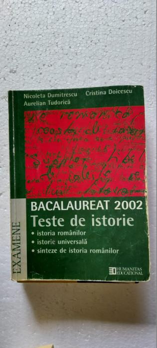 TESTE DE ISTORIE   BACALAUREAT EXAMENE . DOICESCU TUDORICA EDITURA HUMANITAS