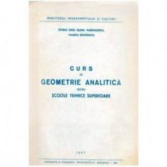 Curs de geometrie analitica pentru scolile tehnice superioare