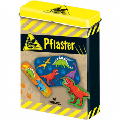 Plasturi Dinozauri Moses, 20 bucati, cutie metalica
