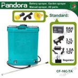 Cumpara ieftin Pompa stropit electrica Micul Fermier (Pandora) 20 Litri, 5 Bar, Model 2020 + regulator presiune, vermorel cu baterie acumulator. (GF-0665)