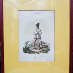FERMIER RUS DIN COMITATUL MARMAROSCH - GRAVURA COLORATA