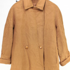 Palton Christian, camel, 70% lana pura, 30% angora