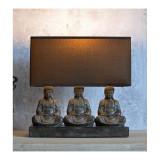 Lampa de masa cu trei Budha CW063, Veioze