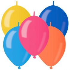 Baloane Cony din latex sidefate asortate 16cm Gemar set 100 buc