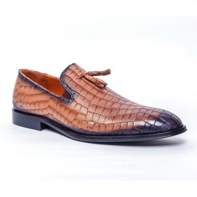 Loafers Francesco Ricotti ,piele naturala,culoare cognac,marime 39 foto