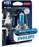 Cumpara ieftin Bec moto blister pachet 1 bucata HS1 12V 35W PX43T CrystalVision ultra Moto, Philips