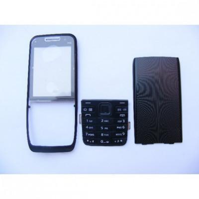 Carcasa nokia e52 negru cu tastatura foto