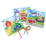 Joc de indemanare Carduri pentru snuruit Learning Resources, 12 piese, 3 - 7 ani