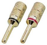 Pair of banana plugs for speakers Monacor SPC-425/B