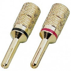 Pair of banana plugs for speakers Monacor SPC-425/B