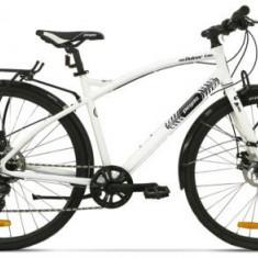 Bicicleta Pegas Hoinar1 8S, Cadru 19inch, Roti 28inch, 8 Viteze (Alb)