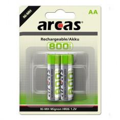 Set 2 Acumulatori R6, AA, 800mAh, Arcas - 201363