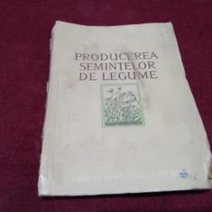 M BULBOACA - PRODUCEREA SEMINTELOR DE LEGUME 1954