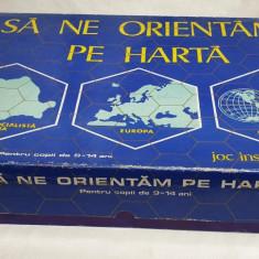 Jucarie veche comunista - Joc Romanesc SA NE ORIENTAM PE HARTA - Joc de colectie