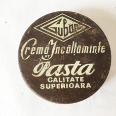 Cutie crema ghete Guban 1985, vechi, vintage, colectie