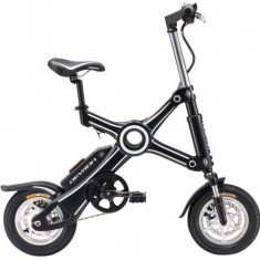 Bicicleta Electrica Pliabila Devron Folding X3, Viteza maxima 25 km/h, Autonomie 40 km, Motor 250W (Negru)