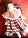 Papusa cu cap ,maini ,picioare portelan -marca Classique Collection ,h= 41,5cm