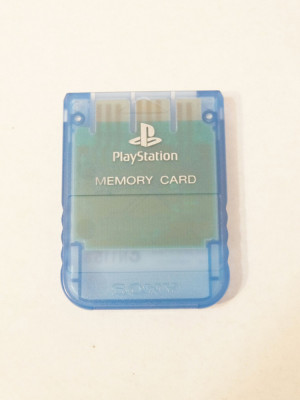 Card memorie Sony Playstation 1 PS1 PS ONE - original SONY - blue clear foto
