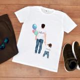 """Cumpara ieftin Tricou personalizat """"Tata cu fetita"""" (Marime: XL, Marime imprimeu: A3 + 10 lei,..."""