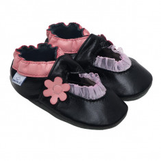 Papucei piele Pink Balerini