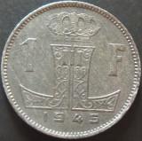Moneda istorica 1 FRANC - BELGIA, anul 1945 *cod 4696 - ZINC !, Europa