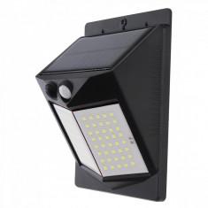 Lampa Solara Exterior 80 LED, senzor miscare, 500 LM