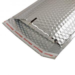 Set 10 plicuri cu bule aer, spatiu destinatar-expeditor, laminate, termoizolante, autoadezive Office Depot, 33x22 cm, Argintiu