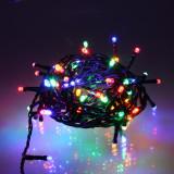 Ghirlanda luminoasa decorativa 100 LED-uri multicolore cu jocuri de lumini cablu verde WELL