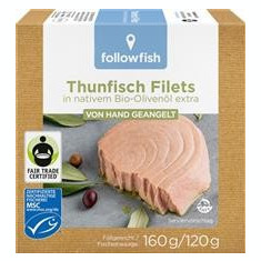 File de Ton Dungat in Ulei de Masline Bio 160gr Followfish Cod: 612099