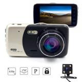 Camera Video Auto Dubla Novatek T810 FullHD Cu Functia WDR Si Ecran IPS