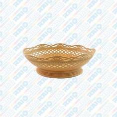 Coș oval pentru pâine rustic din plastic, diverse culori