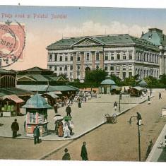 523 - CRAIOVA, New Market, Romania - old postcard - used - TCV - 1912