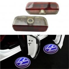 Proiectoare LED Laser Logo Holograme cu Leduri Cree Tip 1, dedicate pentru Volkswagen VW Golf Plus 2005-2007 foto